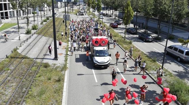 Die sogenannte «FreeParade» am 14. August in Zürich-West.