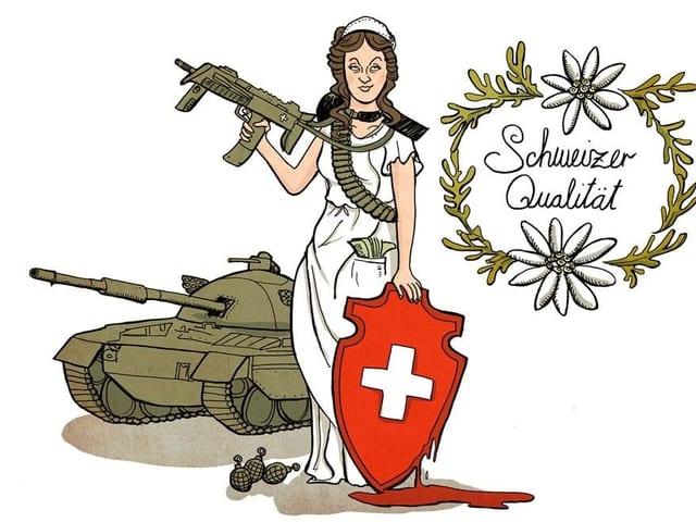 La mamma Helvetia paradescha avant in panzer ed è loscha sin la qualitad svizra.