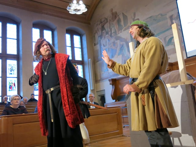 Szenenbild aus dem Jubiläumsfestakt 600 Jahre Rathaus Bern