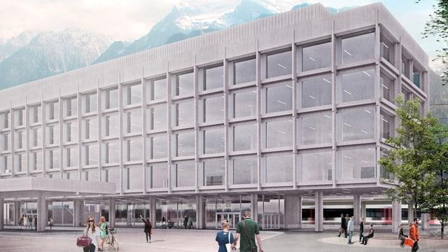 Visualisierung des Neubaus am Bahnhofplatz in Altdorf.