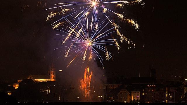 Feuerwerk über Basel
