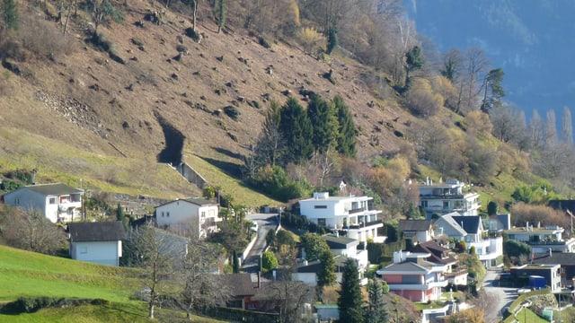 Häusergruppe am Rigihang in Weggis.