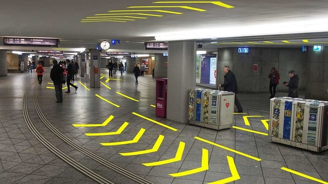 Die Personenunterführung im Bahnhof Bern