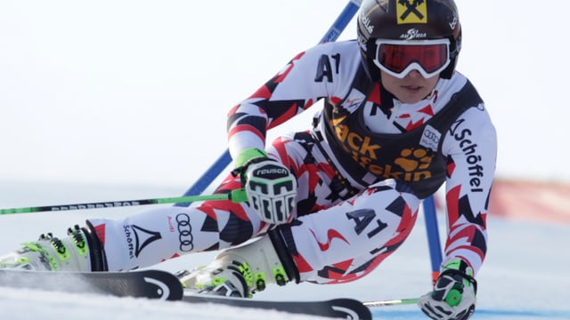 Anna Fenninger durant il slalom gigant.