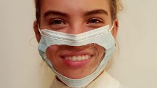 Transparente Hygienemaske