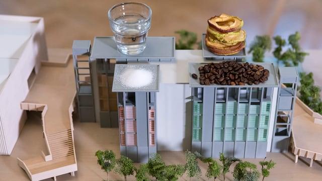 Modell eines Gebäudes