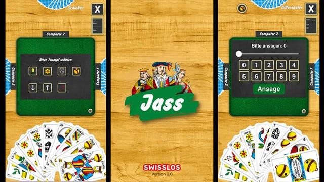 Printscree der neuen Swisslos Jass-App