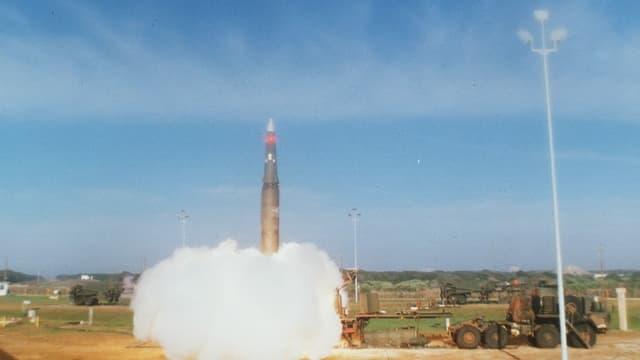 startende Pershing II-Rakete