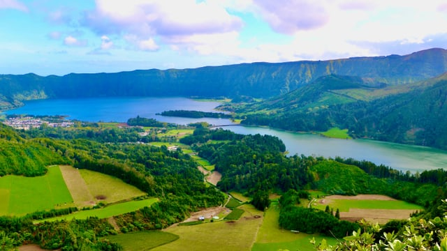 Die Caldera Sete Cidades auf den Azoren