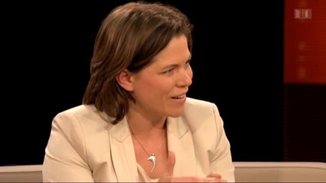 Michelle Beyeler im TV-Studio