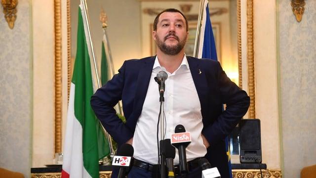Unnachgiebig: der italienische Innenminister Matteo Salvini von der fremdenfeindlichen Lega.