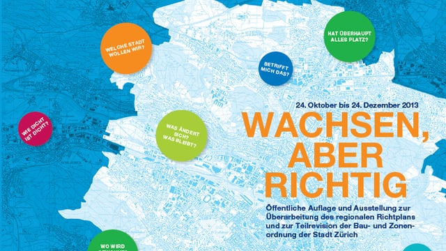 Flyer Stadt Zürich zur neuen BZO