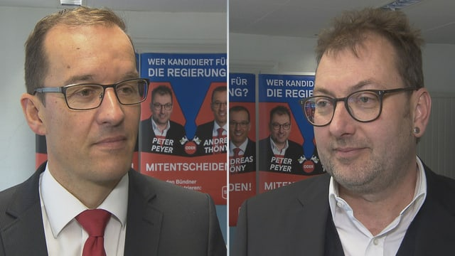Ils dus candidats Andreas Thöny e Peter Peyer.
