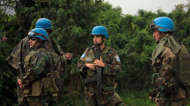 UNO-Soldaten bei einem Einsatz im Kongo.