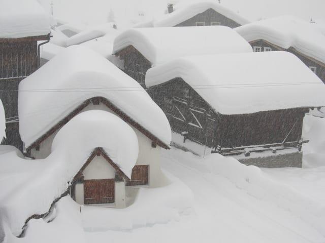 Schneemassen im Goms.