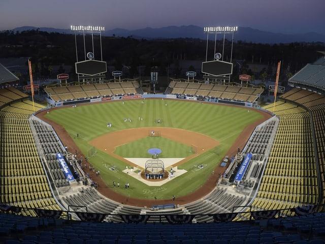 Das leere Stadion der Dodgers