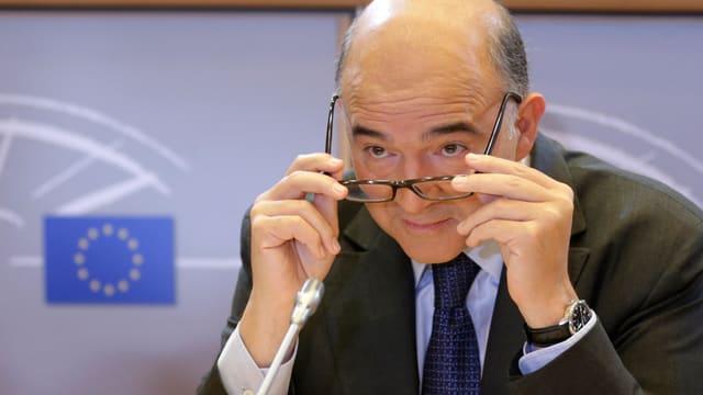 Portrait von Pierre Moscovici.