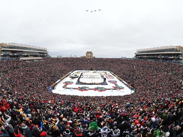 Notre Dame Stadium.