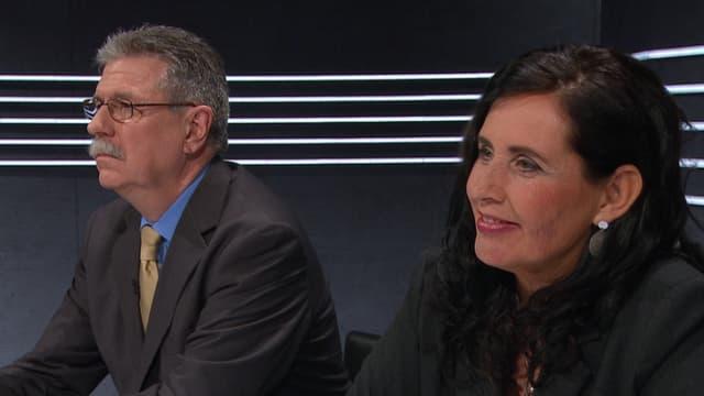 Journalist Urs Paul Engeler und Politologin Regula Stämpfli am Expertentisch.