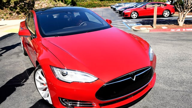 In model d'auto Tesla S.