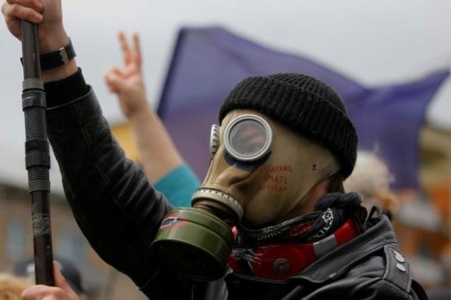 Demonstrant in Minsk, 31. Mai 2020.