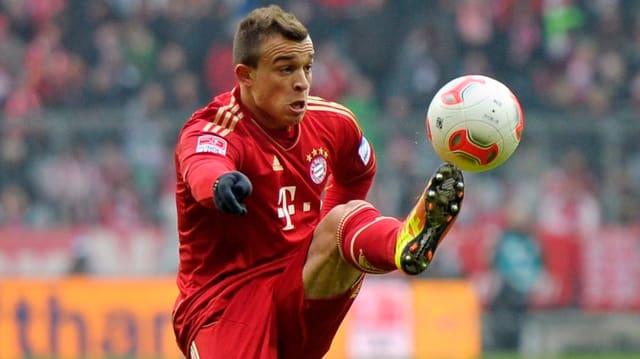 Xherdan Shaqiri feiert gleich in seinem 1. Jahr bei den Bayern den Meistertitel.