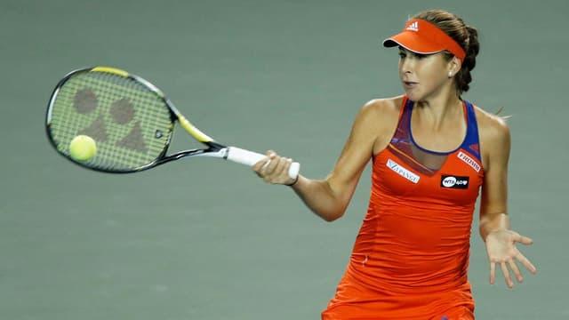 Belinda Bencic machte auch gegen die Weltnummer 11 eine gute Figur.