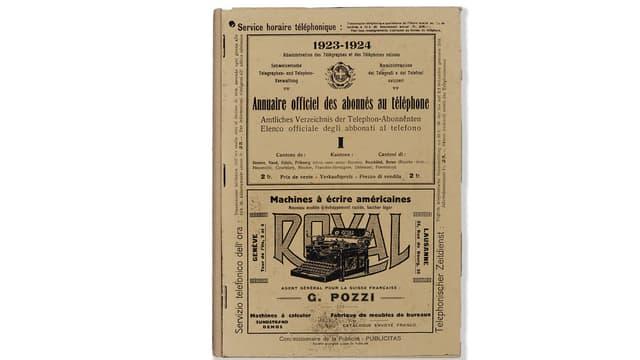 Schweizer Telefonbuch 1923-1924