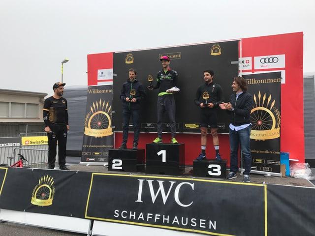 Podest cun ils trais pli sperts a la cursa Chasing Cancellara ad Andermatt.