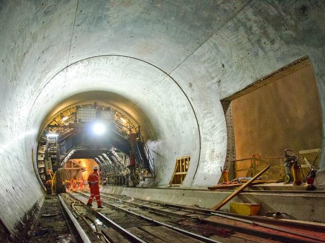 Der Gotthard-Basistunnel bei Amsteg.