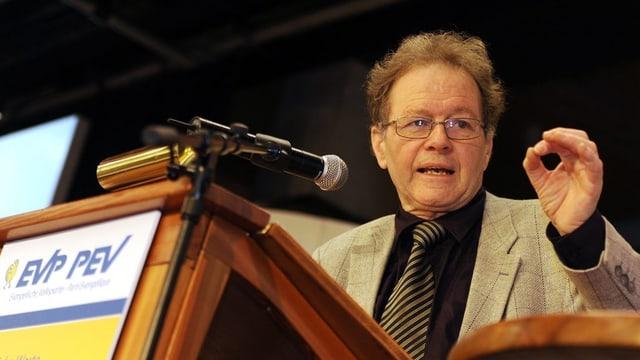 Heiner Studer tritt als EVP-Präsident ab.