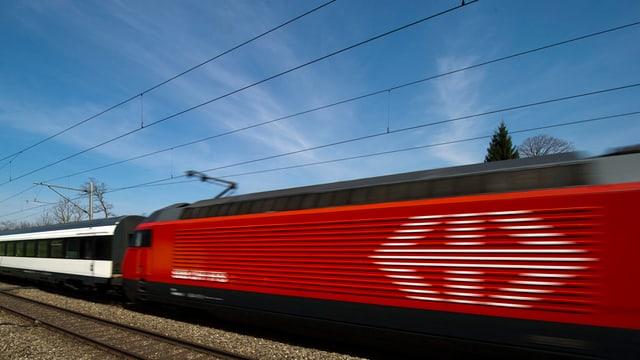 In tren da la SBB.