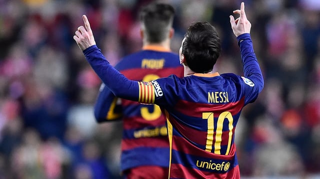 Messi jubelt.