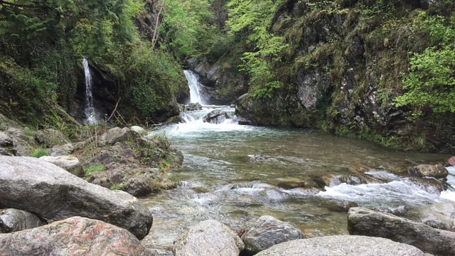 Wasserfall der Magliasina bei Aranno