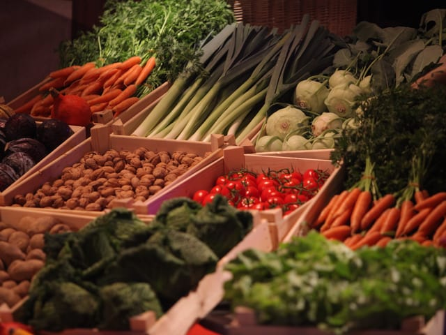 Gemüse-Deko.