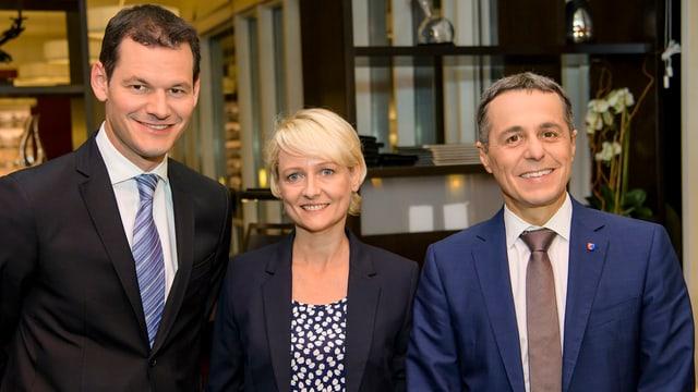 Die drei Kandidaten: Maudet, Moret und Cassis (v.l.)