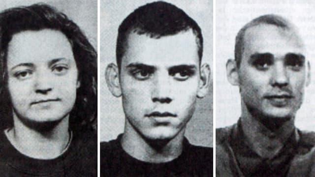 Fahndungsbilder des NSU-Trios.