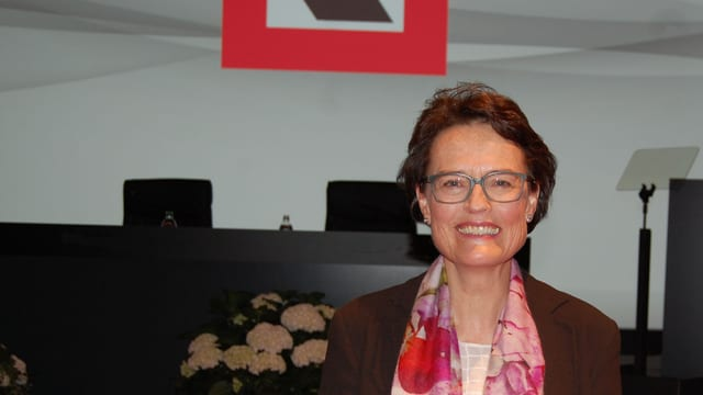 Antoinette Hunziker nach ihrer ersten GV als Berner Kantonalbankpräsidentin.