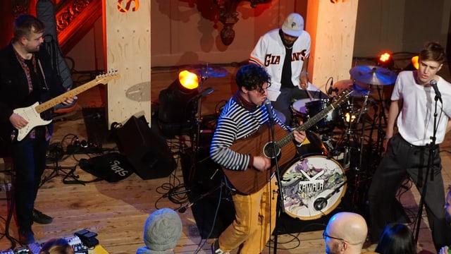 La gruppa Kawala durant in concert al Eurosonic