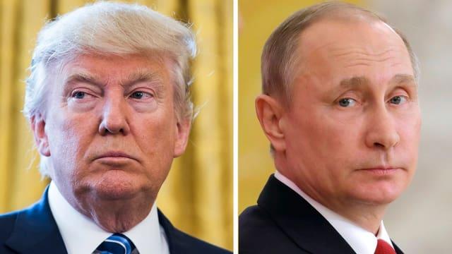 Purtrer da Donald Trump sper in purtret da Wladimir Putin.