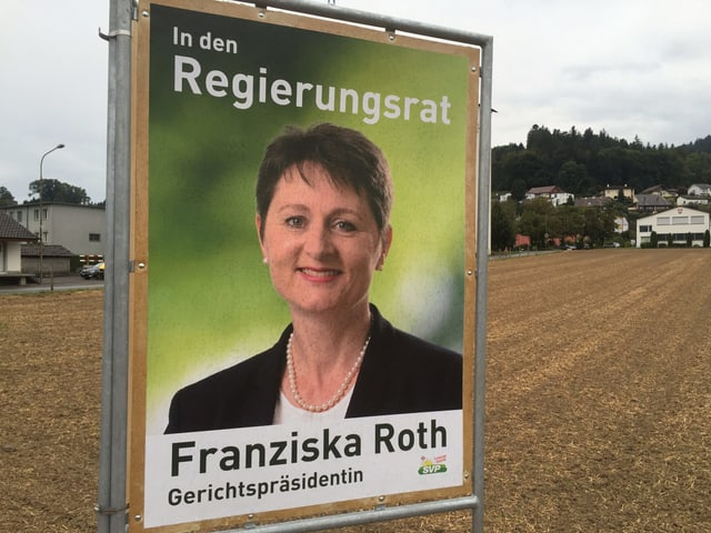 Wahlplakat von Franziska Roth.
