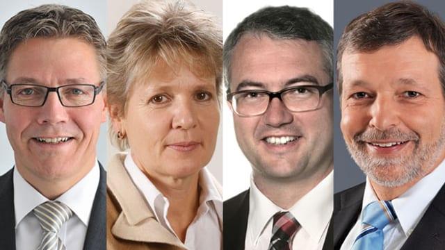 Roland Fürst, Brigit Wyss, Remo Ankli und Roland Heim