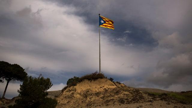 Die Fahne Kataloniens