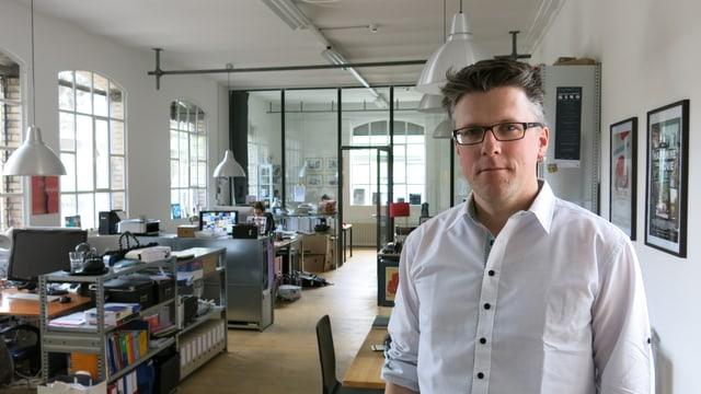 Markus Heiniger arbeitet mit seiner Filmfirma Volta im Filmhaus.