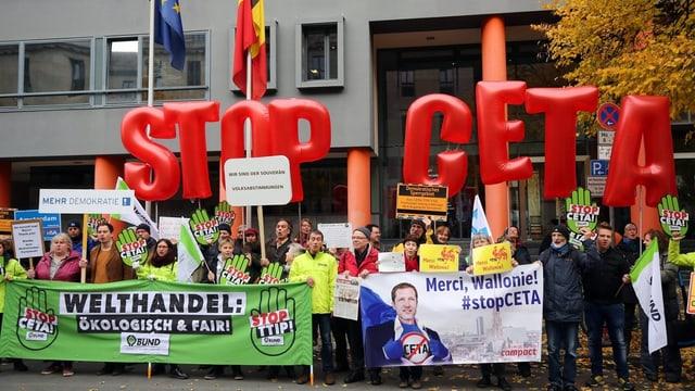 Demonstration gegen Ceta