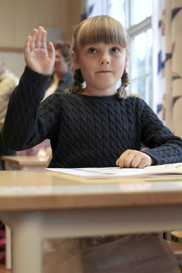 Prinzessin Ingrid in der Schule