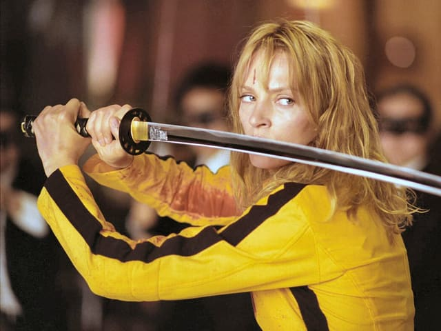 Uma Thurman spielte die Hauptrollen in den Tarantino-Klassikern «Kill Bill» (Bild) und «Pulp Fiction».