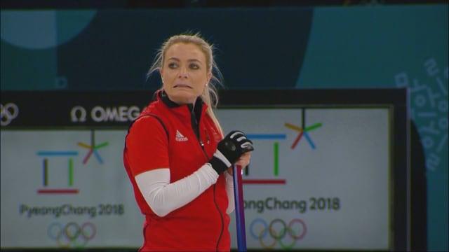 Anna Sloans Mimik zeigt, wie schlecht es den Britinnen läuft.