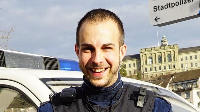 Polizist Christian Spaltenstein
