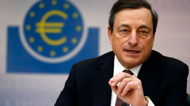 EZB-Präsident Draghi redet